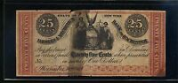 OBSOLETE CURRENCYCIVIL WAR ERA UNION 1862 STATE OF NEW YORK 25 CENTS BB08