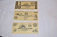COLLECTOR'S NOTES MID 1800'S 2 4 9 ABN CO BANK OF VA CAPE FEAR JERSEY CITY