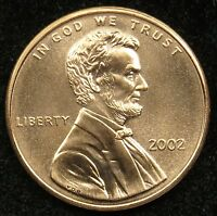 2002 UNCIRCULATED LINCOLN MEMORIAL CENT PENNY BU B05
