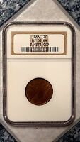 1866 2C - TWO CENT PIECE - NGC  MINT STATE 63BN - 364378-009