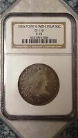 1806 50C DRAPED BUST HALF DOLLAR - POINT 6 WITH STEM - NGC F15 - 3031955-004