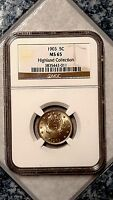 1903 5C LIBERTY NICKEL - NGC MINT STATE 65 - HIGHLAND COLLECTION - 3835442-011