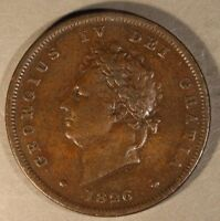 1826 GREAT BRITAIN PENNY NICE               FREE U.S. SHIPPING