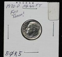1970 D ROOSEVELT DIME MS FULL TORCH