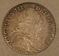 1787 GREAT BRITAIN SHILLING SILVER ATTRACTIVE COIN         FREE US SHIPPING