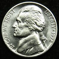 1972 UNCIRCULATED JEFFERSON NICKEL BU B05