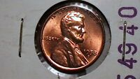 1958 D BRILLIANT UNCIRCULATED LINCOLN CENT  RED BEAUTY  589A3