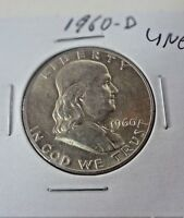 1960 D FRANKLIN HALF DOLLAR UNC
