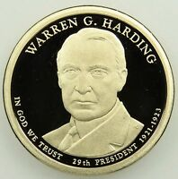 2014 S DEEP CAMEO PROOF WARREN G. HARDING PRESIDENTIAL DOLLAR B01