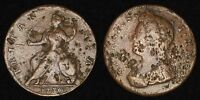 ENGLAND GB UK   1730 1/2 PENNY   GEORGE II