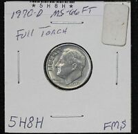 1970 D ROOSEVELT DIME MS FULL TORCH FROM MINT SET