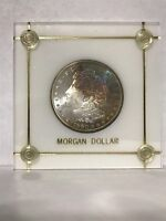 1880 S MORGAN SILVER DOLLAR TONED UNC