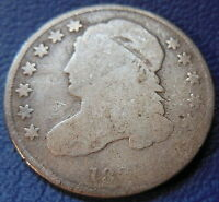 1830/29 CAPPED BUST DIME GOOD G US TYPE COIN 1830 T217