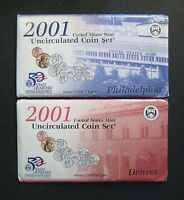 2001 P & D UNITED STATES MINT UNCIRCULATED COIN SET    20 COINS TOTAL   S613