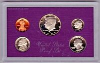 1987 S UNITED STATES MINT PROOF SET WITH BOX  5 PIECE SET