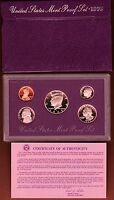 1993 S UNITED STATES MINT PROOF SET WITH BOX & COA 5 PIECE SET