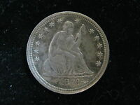 1873 W/ ARROWS US SEATED LIBERTY QUARTER 25 CENT COIN