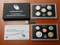 2017 S 225TH ANNIVERSARY ENHANCED UNCIRCULATED 10 COIN SET 17XC PENNY   QUARTERS