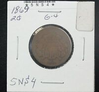 1869 TWO CENT G