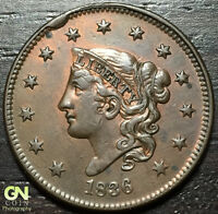 1836 CORONET HEAD LARGE CENT N3 R1        MAKE US AN OFFER  O2922