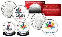 CANADA 150 ANNIVERSARY RCM ROYAL CANADIAN MINT COLORIZED MEDALLIONS 2 COIN SET