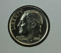 1986 P ROOSEVELT DIME MS FULL TORCH