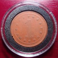 PERU HACIENDA UCUPE RED LEATHER TOKEN 1 SOL CA. 1900S