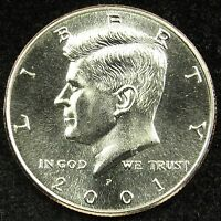 2001 P UNCIRCULATED KENNEDY HALF DOLLAR BU B02