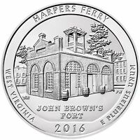 2016 AMERICA THE BEAUTIFUL HARPERS FERRY 5 OZ SILVER BU