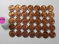 1949 P BU LINCOLN CENT PARTIAL ROLL OF 35 UNCIRCULATED WHEAT PENNIES 49PR35