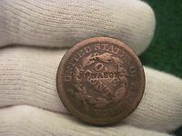 1846 LARGE CENT COUNTER STAMP J.F. NASON