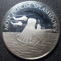 STERLING SILVER FRANKLIN MINT MOST PRECISE SPLASHDOWN MERCURY SPACE CAPSULE