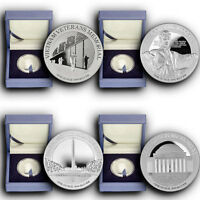 2015 4 COINS SET AMERICA'S NATIONAL MONUMENTS NIUE 1 OZ PROOF SILVER COINS