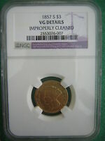 NGC 1857 S  $3.00 PRINCESS GOLD PIECE  ONLY 14,000  MINTED