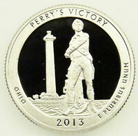2013 S DEEP CAMEO CLAD PROOF PERRY'S VICTORY AMERICA BEAUTIFUL QUARTER B01