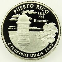 2009 S DEEP CAMEO CLAD PROOF PUERTO RICO WASHINGTON QUARTER B03