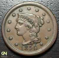 1850 BRAIDED HAIR LARGE CENT --  MAKE US AN OFFER  Y8199