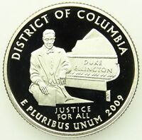 2009 S DEEP CAMEO CLAD PROOF WASHINGTON D.C. DISTRICT OF COLUMBIA QUARTER B05
