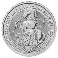 2018 QUEEN'S BEAST UNICORN 2 OZ SILVER COIN | NOW SHIPPING