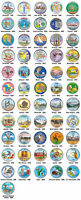 COMPLETE SET OF ALL 56 STATEHOOD STATE U.S. QUARTERS COINS   COLORIZED   $99 NEW