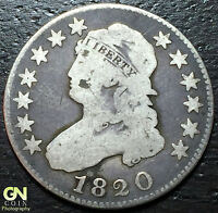 1820 CAPPED BUST QUARTERS     MAKE US AN OFFER  W3792 ZXCV