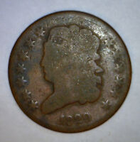 1829 HALF CENT US COPPER COIN 1/2 PENNY LOT 1   MAKE AN OFFER