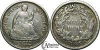 1872 H10C SEATED LIBERTY HALF DIME VF  OLD TYPE COIN ORIGINAL OLD MONEY