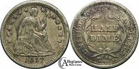 1857-O H10C SEATED LIBERTY HALF DIME VF NEAR EF EXTRA FINE   OLD TYPE COIN MONEY