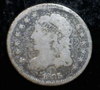 1835 CAPPED BUST HALF DIME .05 US COIN F - VF WITH BOLD DATE & LIBERTY LOT 1