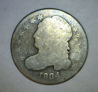 1834 CAPPED BUST SILVER DIME US COIN .10 ESTATAE FIND LOT 2 MAKE AN OFFER