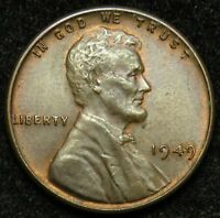 1949 LINCOLN WHEAT CENT PENNY AU ABOUT UNCIRCULATED B03