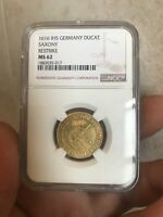 1616 IHS GERMANY DUCAT SAXONY GOLD COIN  VERY .HARD TO FIND