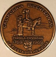 1969 CALIFORNIA BICENTENNIAL MEDALLION 1769 LOT OF 5 COINS  FREE U.S. SHIPPING