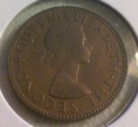 1956 NEW ZEALAND HALF PENNY COIN   NOV015
